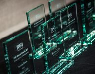 OAT Annual Awards trophies